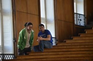 Димитър (вляво); снимка - Тихомира Методиева