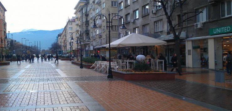 Протест срещу кафенетата на булевард Витоша